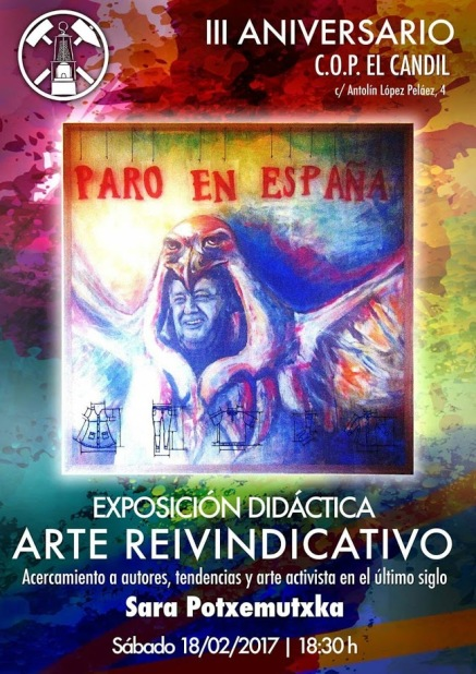 Cartel Arte Reivindicativo COP El Candil