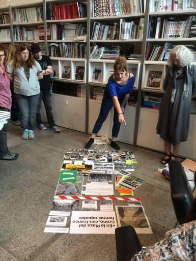 Creando el cartelón de documentación en el MUSAC