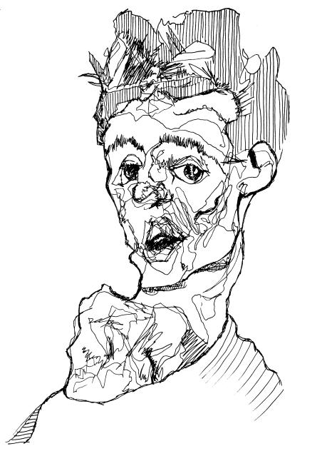 Egon Schiele ilustración