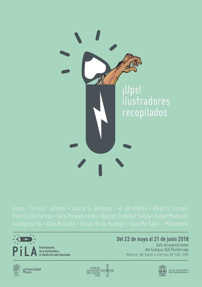 Ups! Ilustradores Recopilados Cartel
