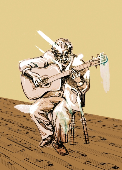 El hombre que nos tocaba la guitarra